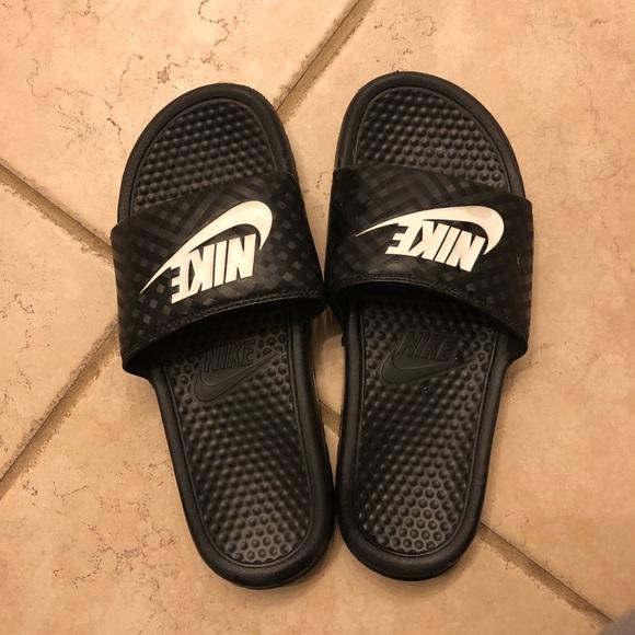 Nike slides, size 9